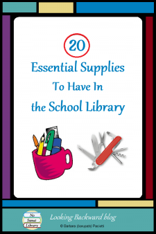 20 Essential Supplies To Have in the School Library - There are some things you just can't live without...and that's especially true in a school library. Here are the 20 essential supplies and tools I always have on hand for students, for teachers, and for myself. #NoSweatLibrary
