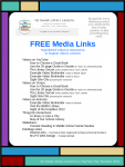 FREE Media Links Pin - You'll enjoy using my videos and other interactives for your School Library Lessons. Download this FREE hyperlinked PDF document to provide value to your students' library experience. #NoSweatLibrary