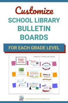 Create a Unique Library Bulletin Board For Each Grade Level - Teachers appreciate school library bulletin boards coordinated with their current subject content, and students, as they move between classes, will constantly be reminded of library resources to help them with their assignments. #NoSweatLibrary