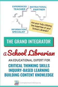 A School Librarian: The Perfect Person for Inquiry Based Learning - With their knowledge & training, the School Librarian is the perfect person to integrate relevant content, critical thinking skills, and an inquiry process for Library Lessons that help students develop authentic, worthy products. #NoSweatLibrary