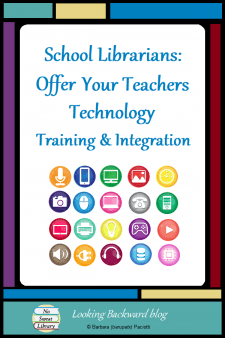 School Librarians: Offer Your Teachers Technology Training & Integration - Effective use of technology in the classroom is often the result of teachers who haven't learned to use it or integrate it into their lessons. School Librarians are already adept at technology and integration, so we can be the best person to provide ongoing technology training for our teachers. #NoSweatLibrary