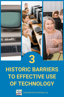Why Educational Technology Isn't Integrated into Classroom Learning - School Librarians have been integrating educational technology into library activities for a long time, but 3 historic barriers continue to prevent its efficient use in the classroom with students. Learn how we can change that! #NoSweatLibrary