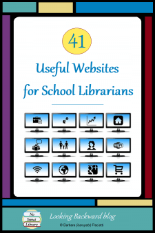 41 Useful Websites for School Librarians - School Librarians will find these 41 quality Websites very helpful to gather information & ideas on professional development, library advocacy, library lessons & activities, reading promotion, and educational technology. #NoSweatLibrary