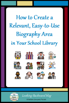 The school library Biography area can become more student-friendly and inviting by re-organizing it into topical, curriculum-related Subjects, as many School Librarians have done with their Fiction area. Read on for a good plan of action! | No Sweat Library